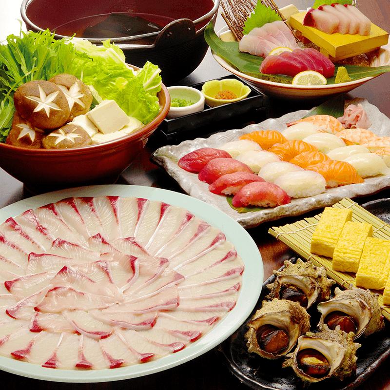 寒ブリぶりしゃぶと寿司盛り食べ放題の冬限定コース